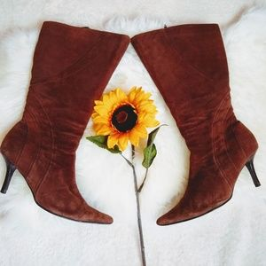RSVP Leather Upper Brown Suede Boots